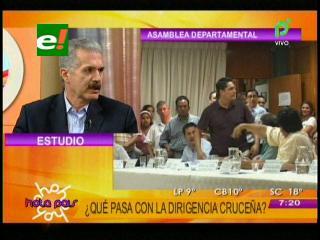 Senador Antelo critica la falta coordinación en el liderazgo cruceño