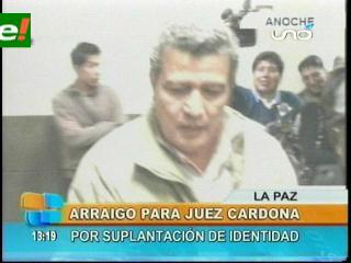 Juez ordena arresto domiciliario contra el Vocal Sergio Cardona