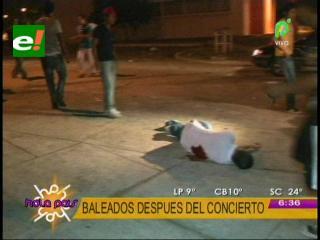 Dos jóvenes mueren baleados a la salida del concierto de Américo