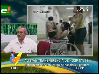 Gobernación cruceña alista transferencia de hospitales, se encargarán de los más grandes