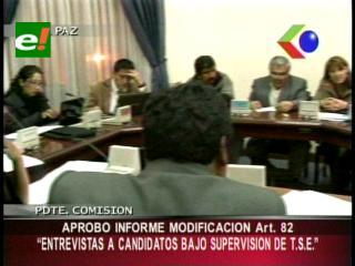 Comisión parlamentaria aprobó reformas al artículo 82 de Ley Electoral