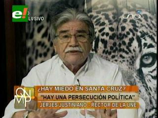 """Jerjes Justiniano: """"Existe una evidente persecución política en Santa Cruz"""""""