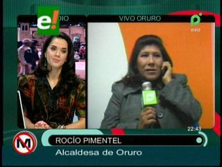 """Alcaldesa de Oruro: """"Me quieren sacar solo por luchar contra la corrupción"""""""