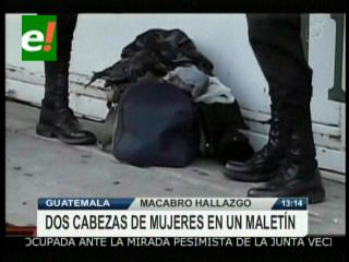 Macabro hallazgo en Guatemala: Encuentran dos cabezas de mujeres en un maletín