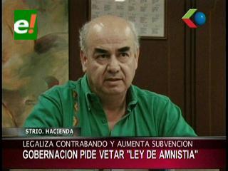 Gobernación de Santa Cruz pide a Evo Morales vetar la Ley de Amnistía