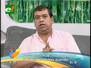 """William Paniagua: """"Acordamos con la bancada indígena no hacer quórum mientras no liberen a Villagómez"""""""