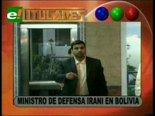 Ministro de Defensa de Irán está en Bolivia