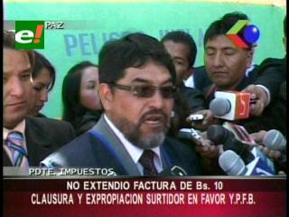 La Paz: Impuestos Nacionales clausuró y expropió un surtidor en favor de YPFB por no emitir facturas