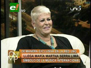 Llegó Maria Martha Serra Lima, el símbolo de la música internacional