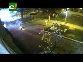 Impactante video de anarquista herido en explosión