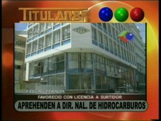 Aprehenden al Director Nacional de Hidrocarburos, acusado por uso indebido de influencias