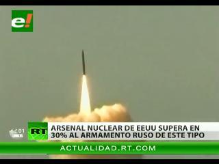EEUU tiene un 30% más de misiles y ojivas nucleares que Rusia