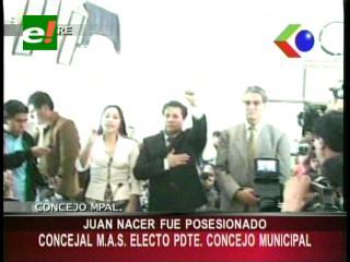 En medio de incidentes posesionaron al nuevo Presidente del Concejo Municipal de Sucre