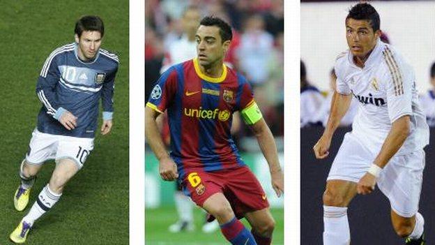 """Xavi, Messi y Ronaldo, nominados al """"Mejor Jugador UEFA"""""""