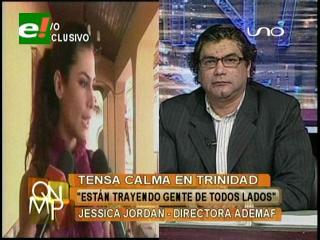 Jessica Jordan denuncia que la Gobernación moviliza gente de las provincias para la audiencia de Suárez