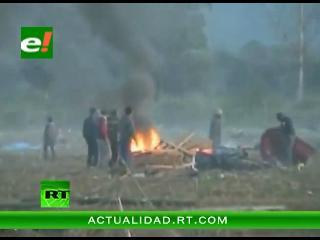 Violento desalojo en Jujuy, Argentina