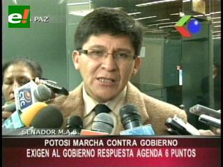 Potosí marchará el miércoles por la desatención del Gobierno