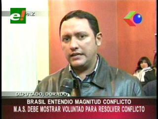 """Diputado Dorado: """"Brasil entendió la magnitud del conflicto entre el Gobierno y los indígenas"""""""