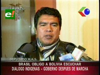 """Diputado Nuni: """"Reunión de indígenas con el Gobierno será después de la marcha"""""""