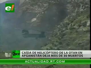 Caída de helicóptero de la OTAN en Afganistán deja más de 30 muertos