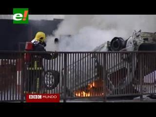 Mientras Londres se calma, los disturbios estallan en el norte de Inglaterra