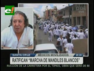 """Médicos ratifican """"marcha de mandiles blancos"""" para este viernes"""