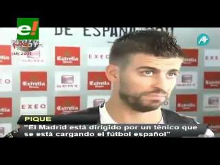 "Piqué: ""Mourinho se está cargando el fútbol español"""