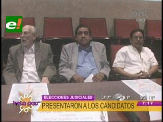 Presentan a los seis candidatos del Tribunal Supremo Electoral por Santa Cruz