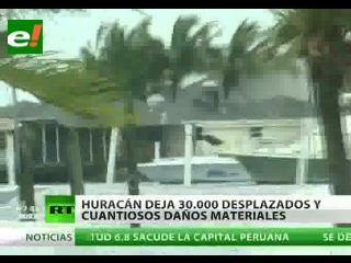 Huracán Irene deja 30.000 desplazados en EEUU