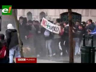 Chile: disturbios en la primera jornada de la huelga de 48 horas