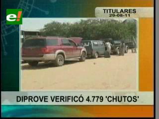 "Diprove verificó 4779 vehículos ""chutos"" en Santa Cruz"