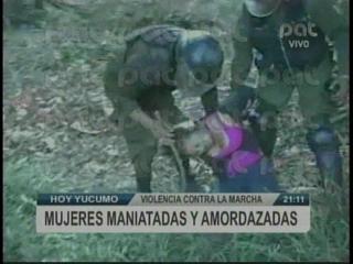 Imágenes sobre la violenta represión policial a la marcha indígena, hay detenidos y niños desaparecidos