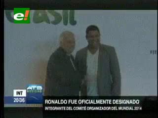 Ronaldo será parte del comité organizador del Mundial Brasil 2014
