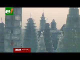 Levantan una ciudad de hielo en China