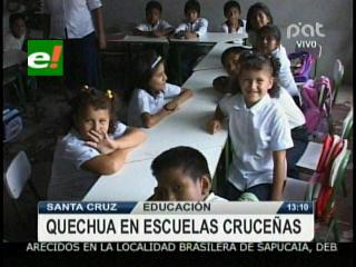 Santa Cruz: Enseñarán quechua a los estudiantes