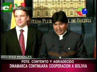 Dinamarca continuará su cooperación a Bolivia