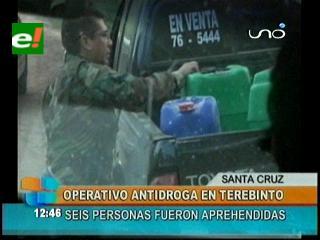 Operativo antidroga en Terebinto, seis personas fueron detenidas
