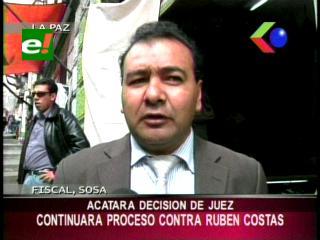 Fiscal Soza  denuncia que Rubén Costas utiliza al abogado de la Gobernación cruceña para defenderse