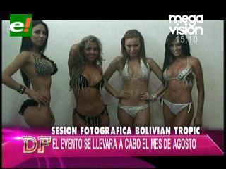 Candidatas al Miss Bolivian Tropic 2012 en sesión de fotos