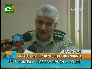 Cambian al subcomandante de la Policía de Santa Cruz