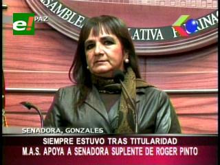 Senadora González pide a la suplente de Roger Pinto definir situación política