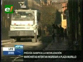 Policía vuelve a gasificar a indígenas del TIPNIS