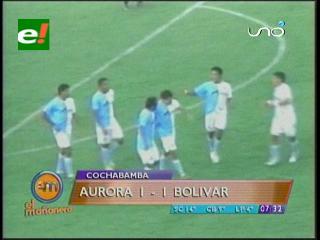 Aurora y Bolívar empataron ayer 1-1.