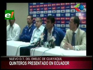 Presentan a Gustavo Quinteros como técnico de Emelec de Ecuador