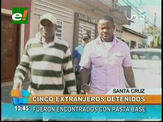 Santa Cruz: Detienen a cuatro extranjeros ilegales acusados por narcotráfico