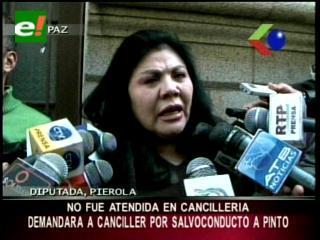 Salvoconducto a Roger Pinto: Diputada Piérola demandará al Canciller por incumplimiento deberes
