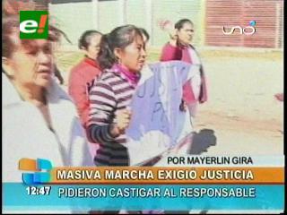 Masiva marcha de vecinos en el Plan Tres Mil, exigen justicia por la muerte de niña de 6 años