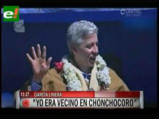"""García Linera: """"Estuve preso 5 años en Chonchocoro solo por levantar la wiphala"""""""