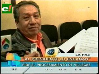 Corrupción en YPFB: Santos Ramírez dice que Carlos VIllegas le miente al Presidente