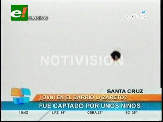 ¿OVNI en Santa Cruz? imágenes fueron captadas por unos niños